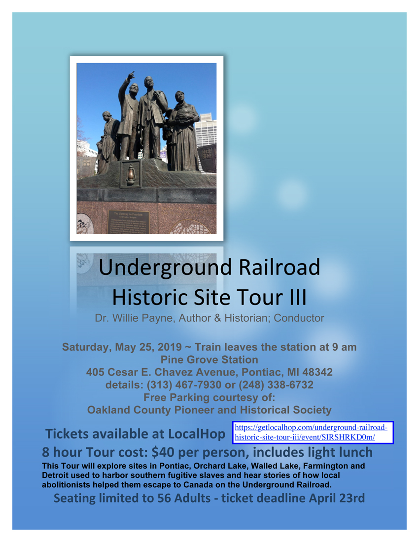 Cancelled: Underground Railroad Historic Site Tour III – Dr. Willie Payne