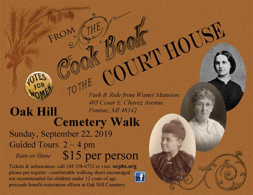 Oak Hill Cemetery Walk – From the Cook Book to the Courthouse