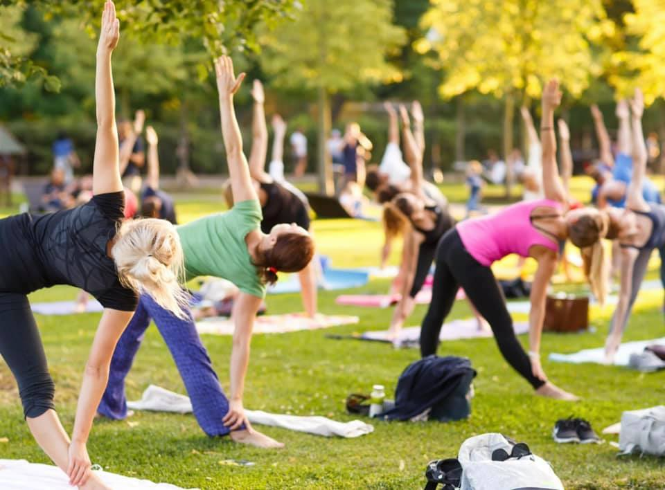 Outdoor Yoga in the Governor's Gardens