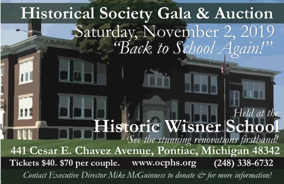 Society Gala and Silent Auction (at Wisner School)