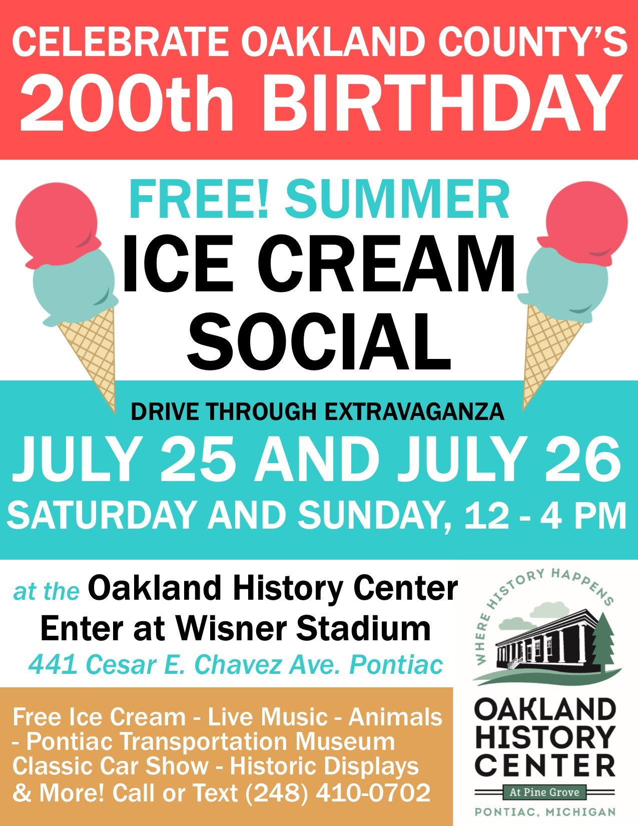 2020 Ice Cream Social – Bicentennial Edition!